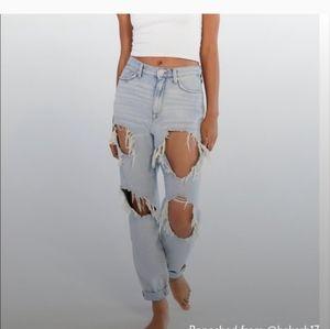 BDG Destroyed Mom High Rise Jeans